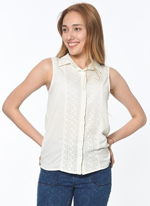 Koton Kolsuz Gömlek Beyaz